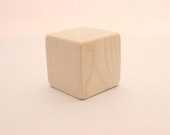"Unfinished wooden blocks | 2 1/2 "" | 6,3 cm | Large wooden blocks |2,5 inch blocks"