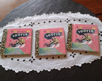 1 NEW UNUSED Vintage Little Little Golden Book Tootle, the train mini pocket travel book by Gertrude Crampton birthday Father's day gift
