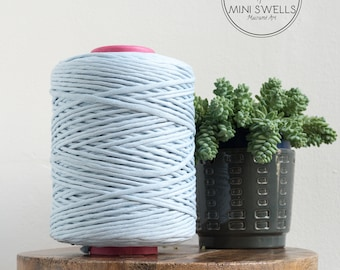 Baby Blue Cotton Rope - Super Soft Luxe Cotton Cord - 5mm - Macrame Rope - Diy Macrame - Rope - Weaving - Macrame