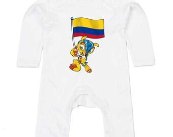 Colombia World Cup Mascot Body Suit Humour Gift Present Baby Shower Birthday Novelty Onesie Memorabilia Commemorative Brazil 2014