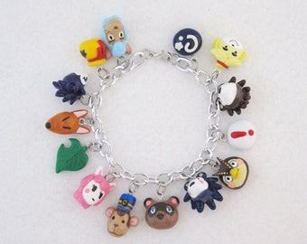 Custom Choose Your Own Villagers Items Animal Crossing New Leaf Pocket Camp Villager Charm Bracelet 14 Charms