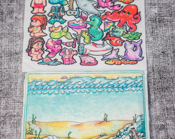 Flannel board set Under the Sea 10 in - story picture pocket, felt boards, felt board pieces, quite toy, flannel boards, quiet board