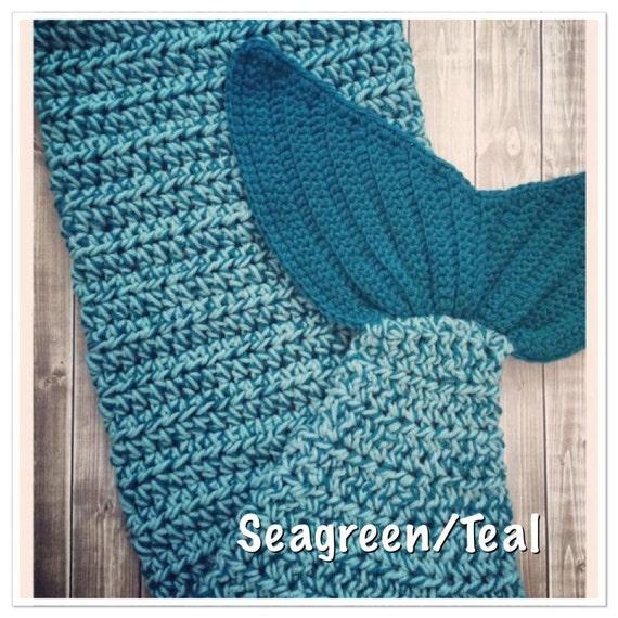 Manta de cola de sirena Crochet hecho a mano bebé niño