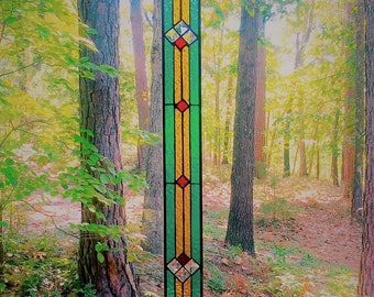 Stunning stained glass panel  gift stained glass window panel home decor suncatcher glass art