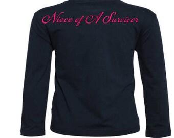 Niece of a survivor Shirt / Survivor shirt / Nephrew of a survivor / breast cancer shirt