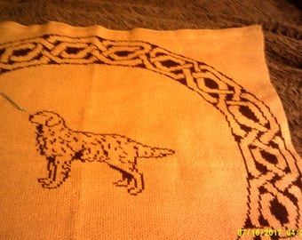Golden Retriever Wallhanging, throw, or lap robe