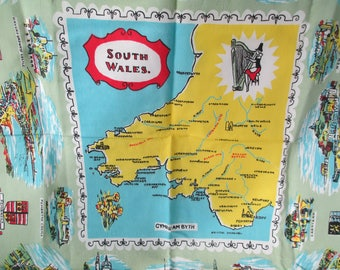Map table cloth etsy vintage south wales card tablecloth welsh linen souvenir map table cloth 30 gumiabroncs Image collections
