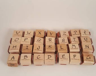 28 Rubber Stamps Set Letters A - Z Entire Alphabet Upper & Lowercase... great for card making...stamping