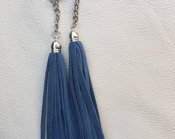 Handmade Suede Tassel Keyrings