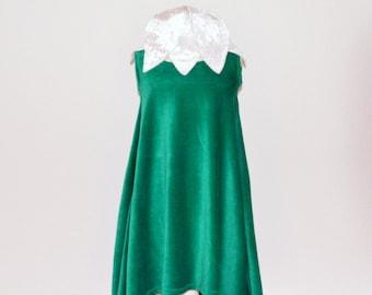 snowdrop,flowerdress,fairy dress,pixi dress,nicky velour dress