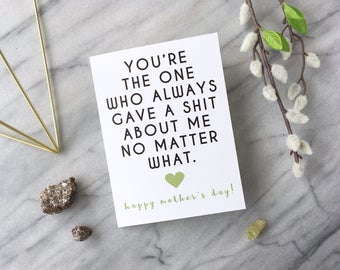 Funny Mother's Day Card Funny Mom Card Adult Mother's Day Card Card for Mom Mother's Day Card Honest Mother's Day Card Mother's Day Gift