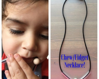 Chew necklace, sensory chew necklace, autism chewlery, chewing necklace