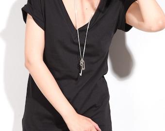 Womens Vneck Cotton Top, Vneck Tees, Handmade cotton tee, tshirts, cotton tops womens essential cuff tee shirt