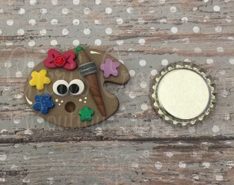 Polymer Clay - Handmade - Paint Palette - Love to Paint - Art is Life - Back to School - Handmade Polymer Clay