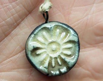 Ceramic flower pendant 115