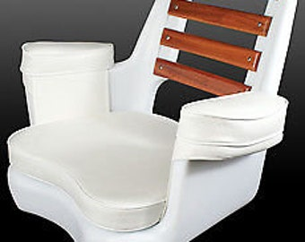 Todd Cape May Mahogony Back Seat - w/ Cushions - 89-2032C  BOAT SEAT CAPTAINS Chair  Ship