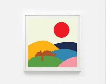 Bear Print 25x25 cm