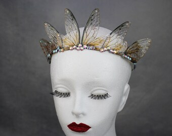 Delicate and Ethereal Fairy Wing Circlet - Fairy Queen/Bridal/Prom/Pagan Tiara/Crown/Headdress