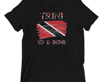 Trinidad Shirt| Trini To D Bone| Trinidad and Tobago Flag| Trinbago Short sleeve t-shirt