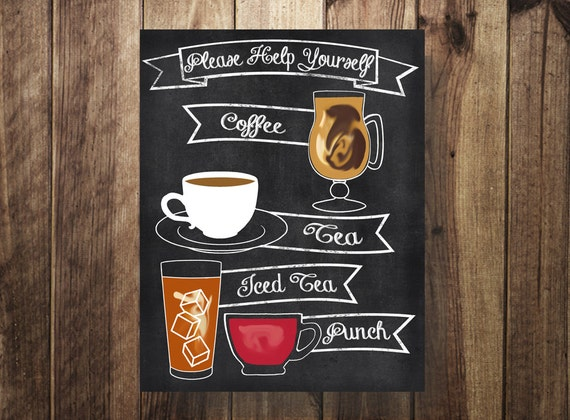 Coffee Station Sign Coffee Bar Drink Station Printable