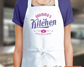 Gramma Gift, Birthday Gift For Gramma! Funny Apron, Keep Calm, Grammas Kitchen, Cooking Gift, Awesome Gramma, Personalized, Gramma Shirt