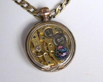 Steampunk Necklace -- Vintage Watch Movement  SN152
