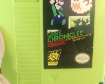 Luigi's Chronicles Reproduction NES Cartridge w/ Dust Cover *NEW*