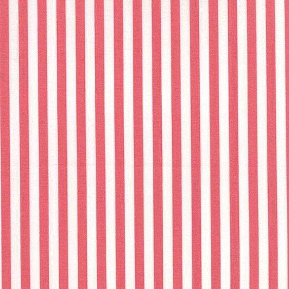 Corey Yoder Little Miss Shabby Pink Prairie Stripe Quilt Fabric. 29006-26