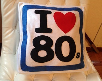 Cushion I love 80 s