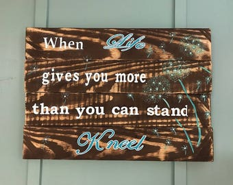 Pallet Wood Inspirational Saying Wall Art