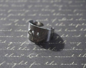 Silver ring with 3 rings to customize 13x20mm