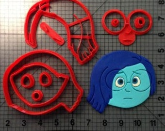Inside Out Sadness Cookie  Cutter  3 Inch