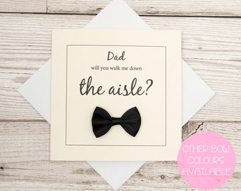 Will You Walk Me Down The Aisle IVORY Wedding Card, Dad Walk Me Down The Aisle, Will You Give Me Away, Wedding Card, Father of The Bride
