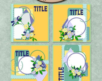 Digital Scrapbooking, Layout Templates: Happy Day