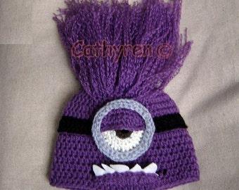 Halloween Monster Hat - INSTANT DOWNLOAD Crochet Pattern