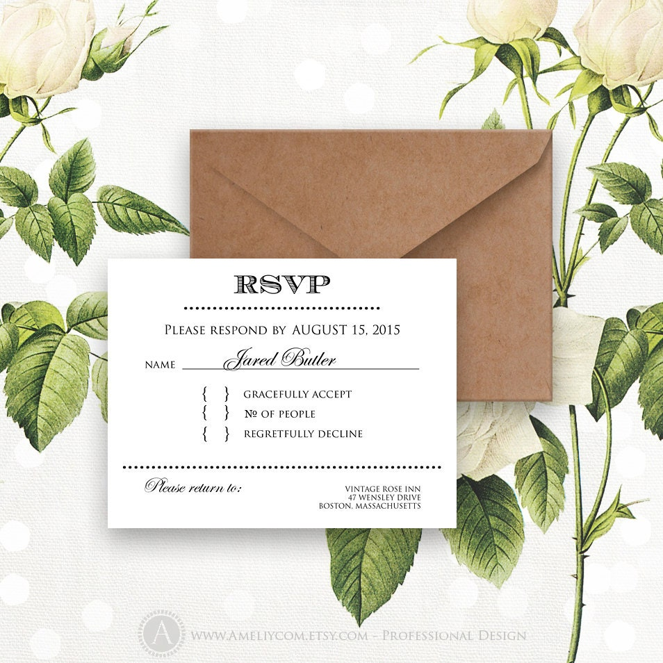 Printable rsvp card instant download white reply card digital zoom bookmarktalkfo Image collections