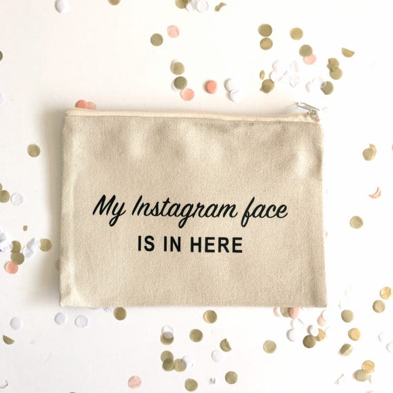 Canvas Cosmetic Bag: I Don't Share Makeup