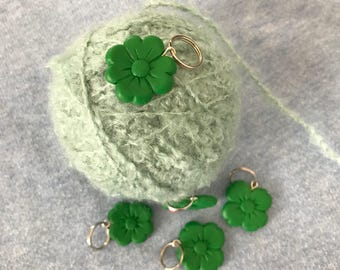 Knitting stitch markers: St Patrick's Day! / Progress keeper / Stich markers /