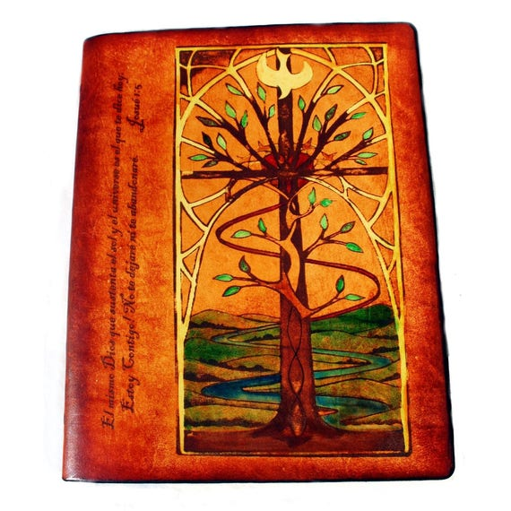 Sonshine Leather Bible Using Artwork or Tattoo with Hand Embellishments