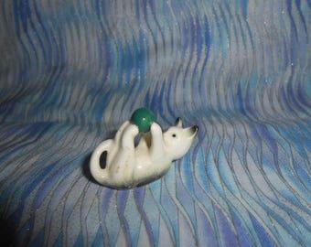 Miniature Bone China Kitty Cat   #B