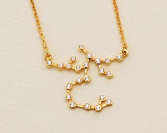 SALE 20% OFF - Sagittarius Necklace - Zodiac Necklace - Zodiac Signs - Sagittarius Necklace - Constellation Necklace with Stone