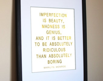"""Imperfection is beauty 