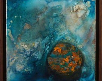Anchondrite - Original Abstract Art Mixed Media Painting Elegant Organic Artwork Framed Modern Art by Renowned Artist Paul Redd-Butterfield