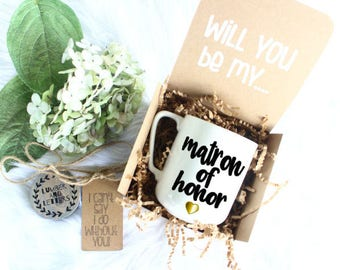 Matron of Honor Proposal - Will You Be My Matron of Honor - Matron of Honor Proposal - Gift for Matron of Honor - Matron of Honor Gifts