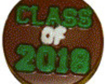 Class of 2018 Oreo Sandwich Cookie Chocolate Candy Mold - Chocolate Covered Oreo Mold