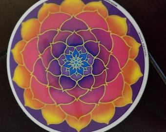 Sun burst lotus sticker