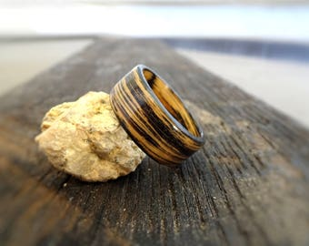 Whiskey Barrel Ring - Charred Whiskey Barrel Bentwood Ring - Jack Daniels Ring - Tennessee Whiskey Barrel Ring - Charred Bourbon Barrel Ring