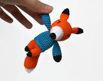 Crochet fox Crochet animal Woodland animals Amigurumi fox Kawaii fox Stuffed animals Red fox plush Crochet amigurumi handmade keychain