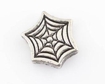 Halloween or Fall Cobweb Spiderweb Floating Charm for Glass Memory Locket FC23 - 1 Charm Web
