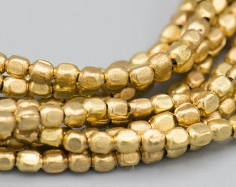 """Tiny Rounded Rectangle 1.8x2.1mm Golden Brass Spacer Beads -290 on  24"""" Strand SKU-MRR1.8X2.1G-18"""